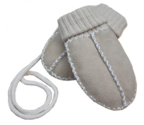 Baby - Lammfellfäustel mit Strickbündchen